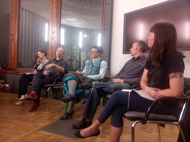 Panel from left to right: Rachel Aldred, Carlton Reid, Kat Jungnickel (chair), Justin Spinney and Jenni Gwiazdowski.