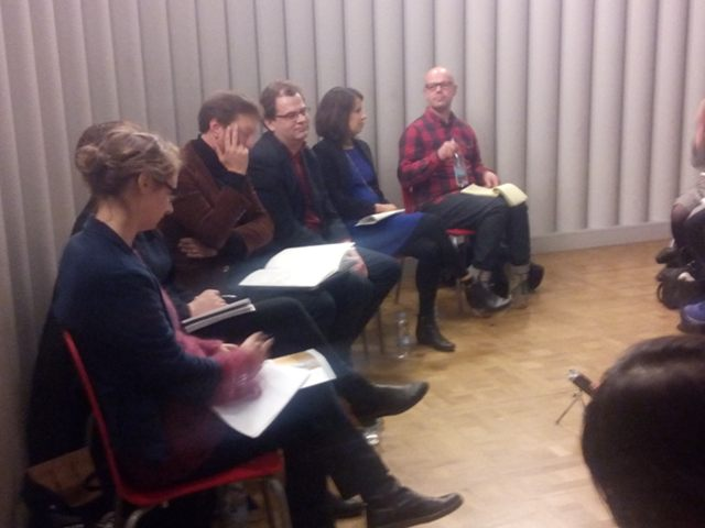 l to r: Jessica Pyketty, Phoebe Moore (hidden), Dan Lockton, Peter John, Alison Powell, Simon Blyth.