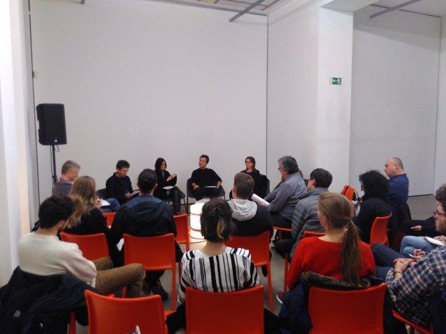 l. to r.: Guy Julier, Alison Clarke, Matthias Tarasiewicz, Martina Grünewald, Özlem Savas (hidden)